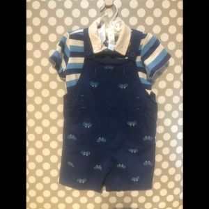 Toddler Boy's Overall Short Outfit